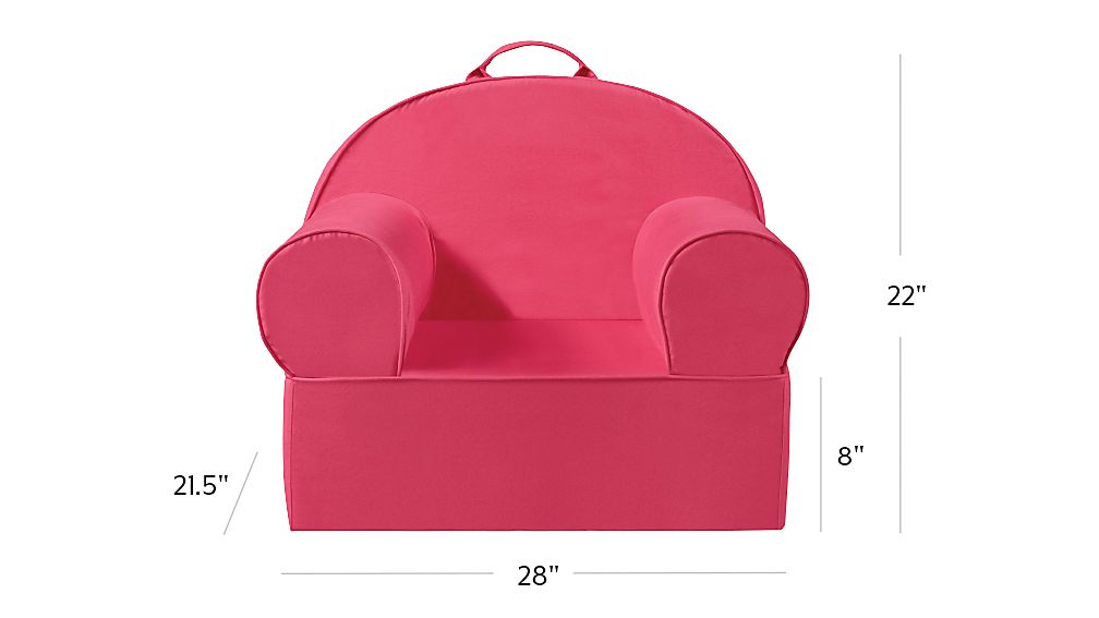 Large Dark Pink Nod Chair + Reviews | Crate and Barrel