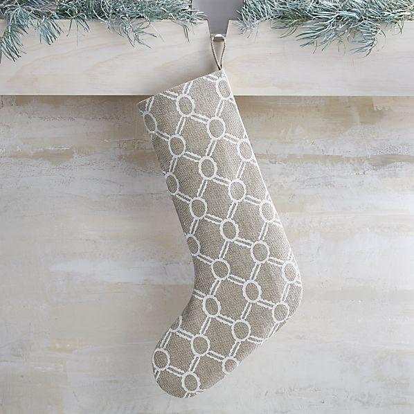 Noelle Ivory Stocking