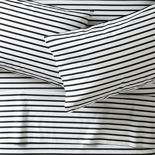 Black And White Stripe Sheets Crate And Barrel