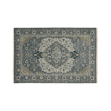 Nola Blue Persian Style Rug 6x9 Reviews Crate And Barrel