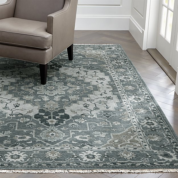 Nola Blue Persian Style Rug Crate And Barrel