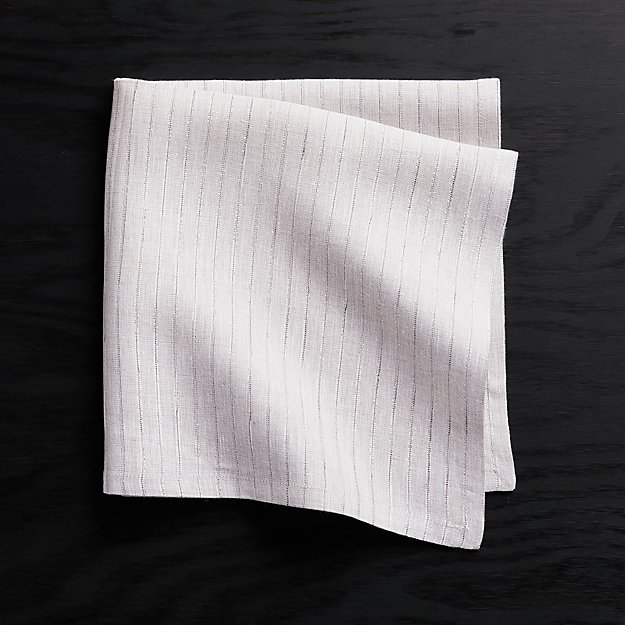 Nola Striped Linen Napkin - Image 1 of 4