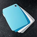 Non-Slip Aqua Cutting Boards, Set of 4