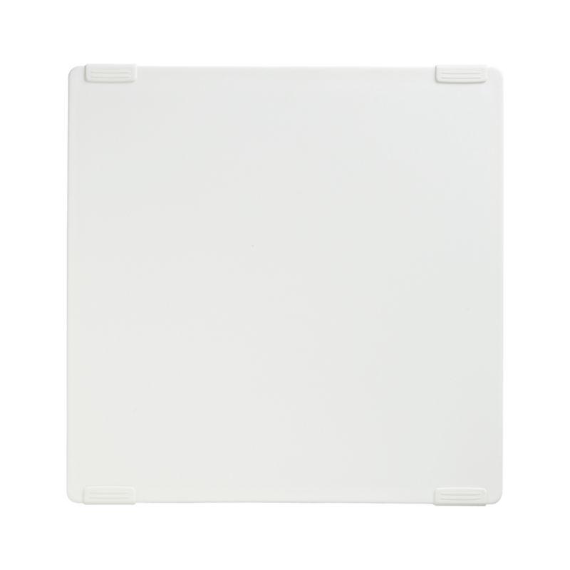 The convenience of a reversible design is enhanced with ribbed grips for added stability. Square cutting board is crafted of high-density, durable white plastic.<br /><br /><NEWTAG/><ul><li>BPA-free polypropylene</li><li>Nonslip TPE gripper bars</li><li>Dishwasher- and freezer-safe</li><li>Not microwave-safe</li><li>Made in USA</li></ul>