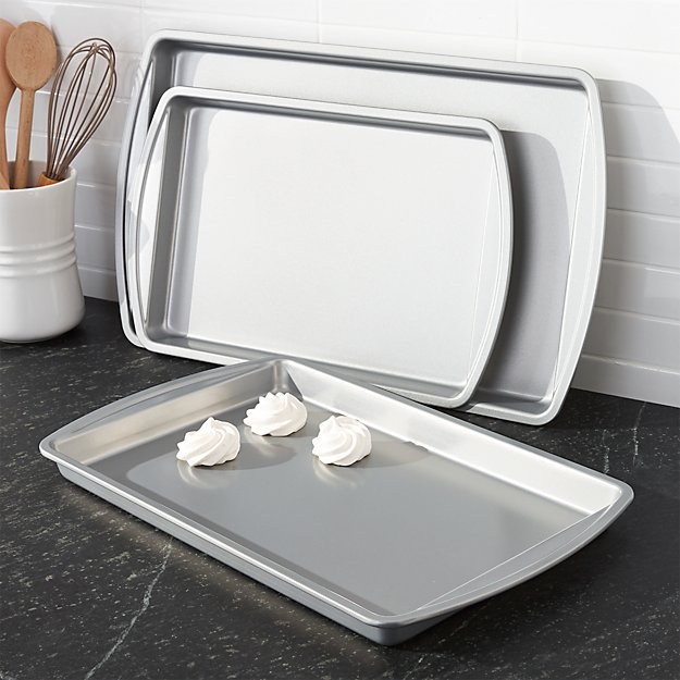 Set of 3 Non-Stick Baking Sheets - Image 1 of 4