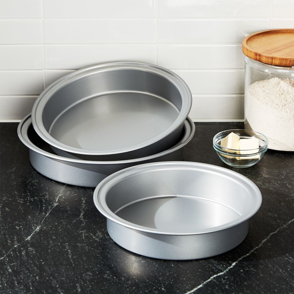 Set of 3 Nesting Cake Pans - Crate and Barrel