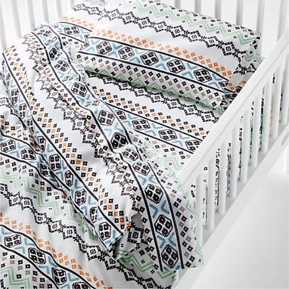 Nordic Flannel Toddler Duvet Cover Crate And Barrel
