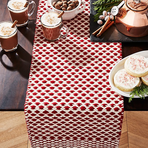 Nordic Sweater Red 90 Table Runner Reviews Crate And Barrel