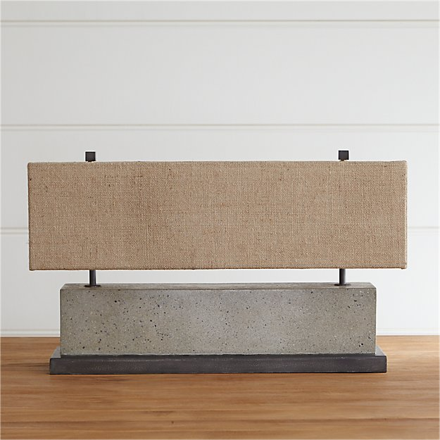 Norris concrete table lamp crate and barrel mozeypictures Image collections
