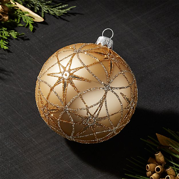 Northstar Gold Ball Ornament