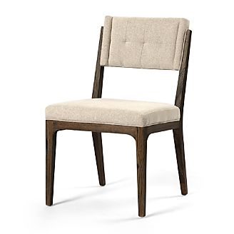 Rey Fulci Stone Tufted Dining Chair