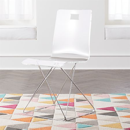 Prime Kids Now You See It Acrylic Desk Chair With Silver Base Gmtry Best Dining Table And Chair Ideas Images Gmtryco