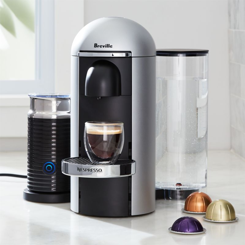 Nespresso ® by Breville Vertuo Deluxe Plus Silver Coffee Maker ...