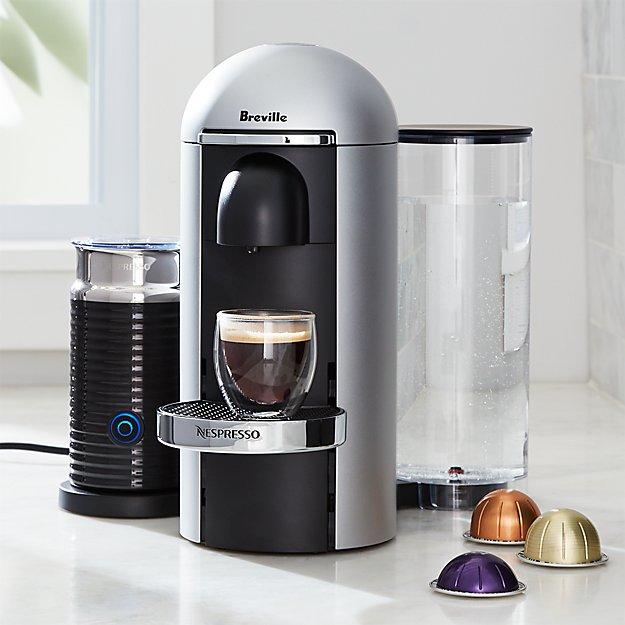 Nespresso ® by Breville Vertuo Deluxe Plus Silver Coffee Maker Bundle