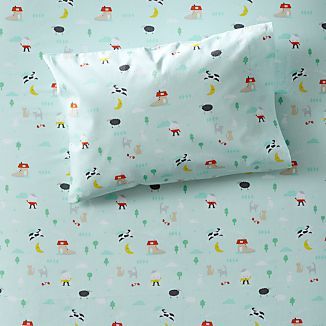 Organic Nursery Rhymes Toddler Pillowcase