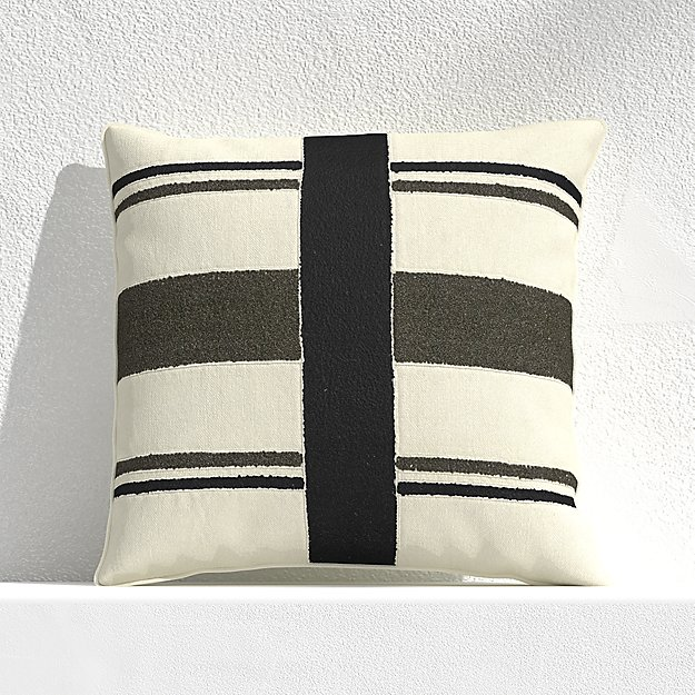"Mohave Narrow Stripe 20"" Outdoor Pillow - Image 1 of 3"