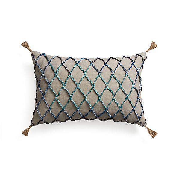 "Nyah 24""x16"" Pillow with Down-Alternative Insert"