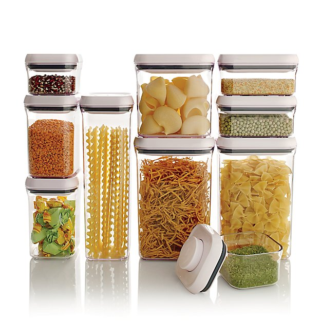 kitchen storage containers buy online oxo 10 pop container set reviews crate and barrel 8617