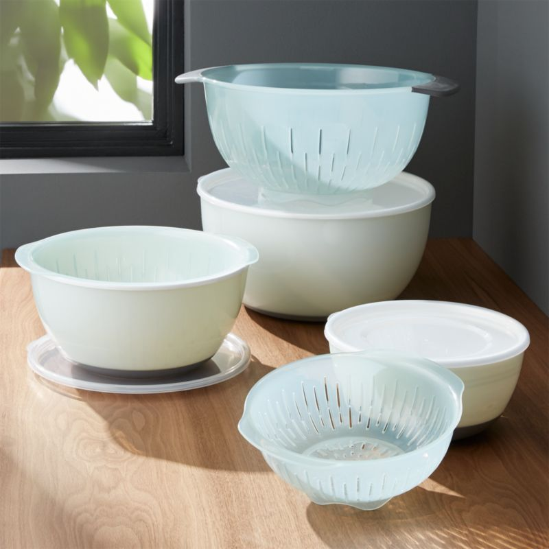 937676af4f9 9-Piece OXO Nesting Bowls and Colanders and Lids Set + Reviews ...