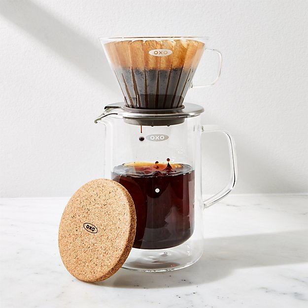 OXO Brew Glass Pour-Over Coffee Maker Set - Image 1 of 3