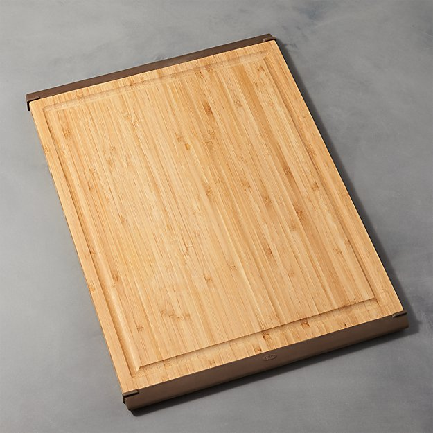 oxo large bamboo cutting board crate and barrel. Black Bedroom Furniture Sets. Home Design Ideas