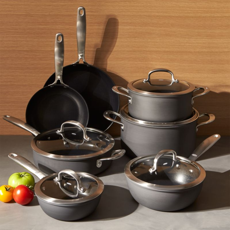OXO Non-Stick Pro 12-Piece Cookware Set + Reviews