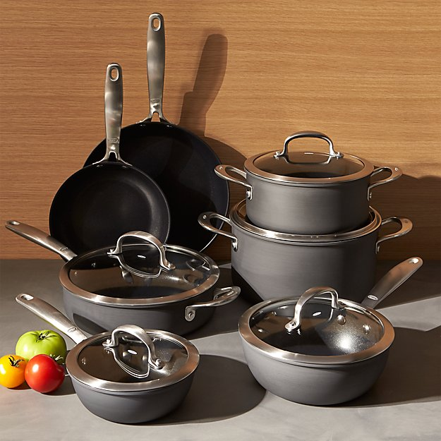 OXO Non-Stick Pro 12-Piece Cookware Set + Reviews | Crate and Barrel