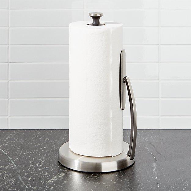 paper towel holder. OXO  Spring Arm Paper Towel Holder Crate and Barrel