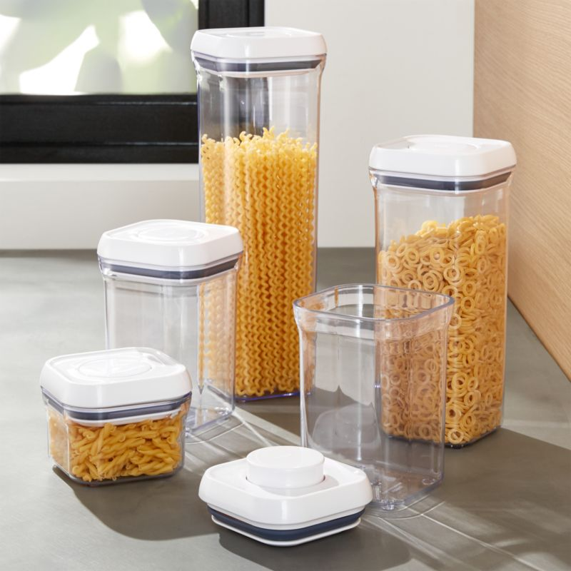 & OXO Pop Containers Set of 5 + Reviews | Crate and Barrel