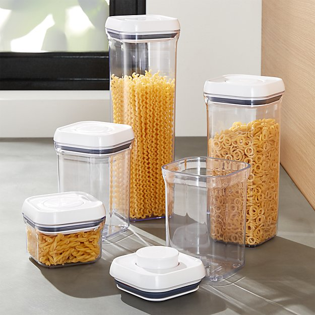 Oxo Pop Containers Set Of 5 Reviews Crate And Barrel