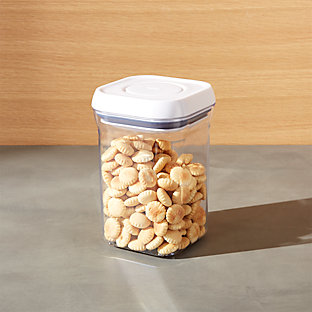Oxo 174 Pop Square 4qt Container With Lid Crate And Barrel