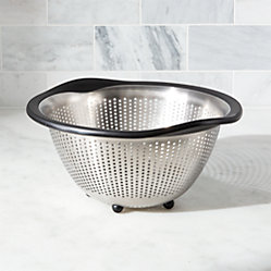 Oxo 174 Stainless Steel 5 Qt Colander Crate And Barrel