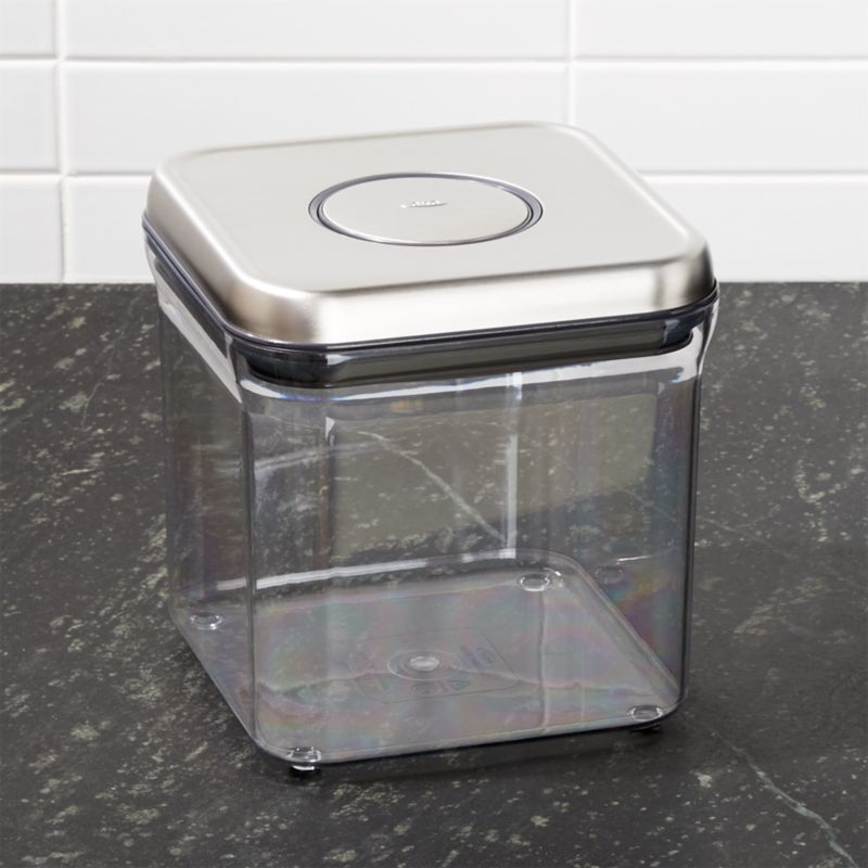 Oxo Steel Pop 2 4 Qt Container Reviews Crate And Barrel
