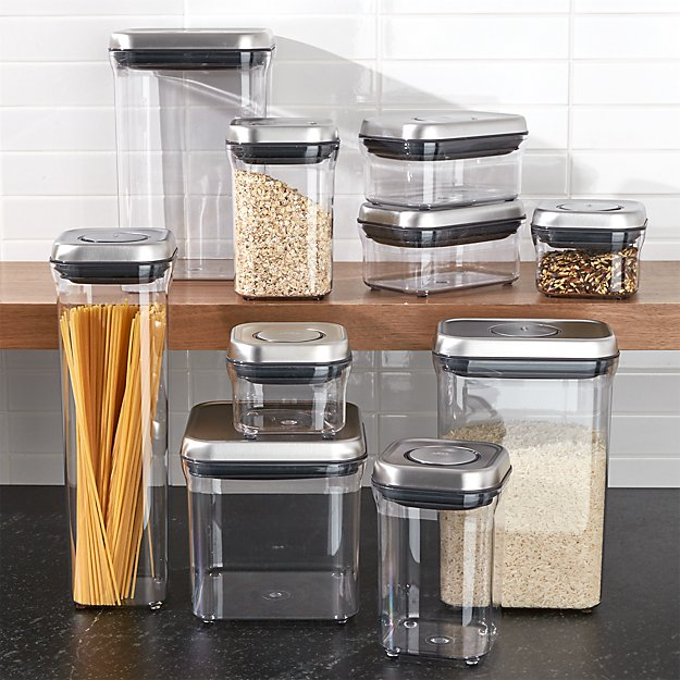 Oxo 174 Steel Pop Containers Set Of 10 Crate And Barrel