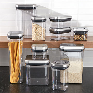 Kitchen Storage Containers | Food Storage Containers Glass And Plastic Crate And Barrel