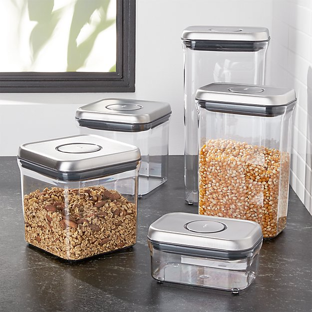 Oxo Steel Pop Containers Set Of 5 Reviews Crate And Barrel