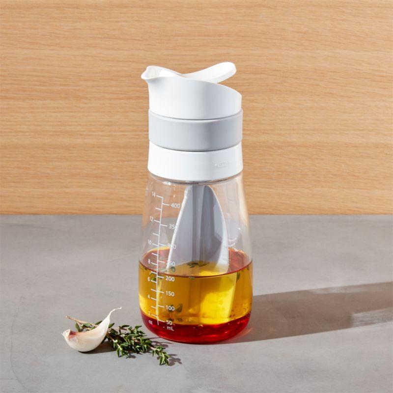 oxo twist pour salad dressing mixer reviews crate. Black Bedroom Furniture Sets. Home Design Ideas