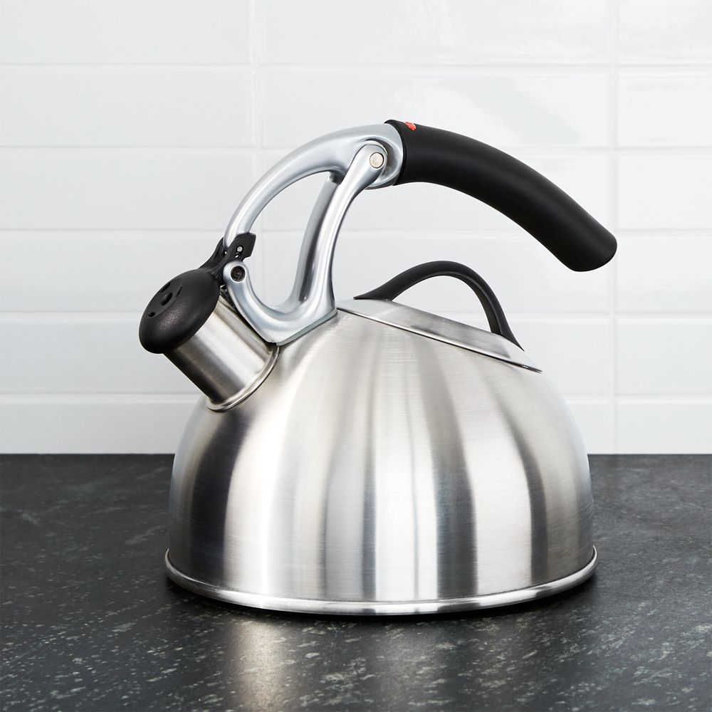 OXO ® Uplift Brushed Stainless Steel Tea Kettle - Crate and Barrel