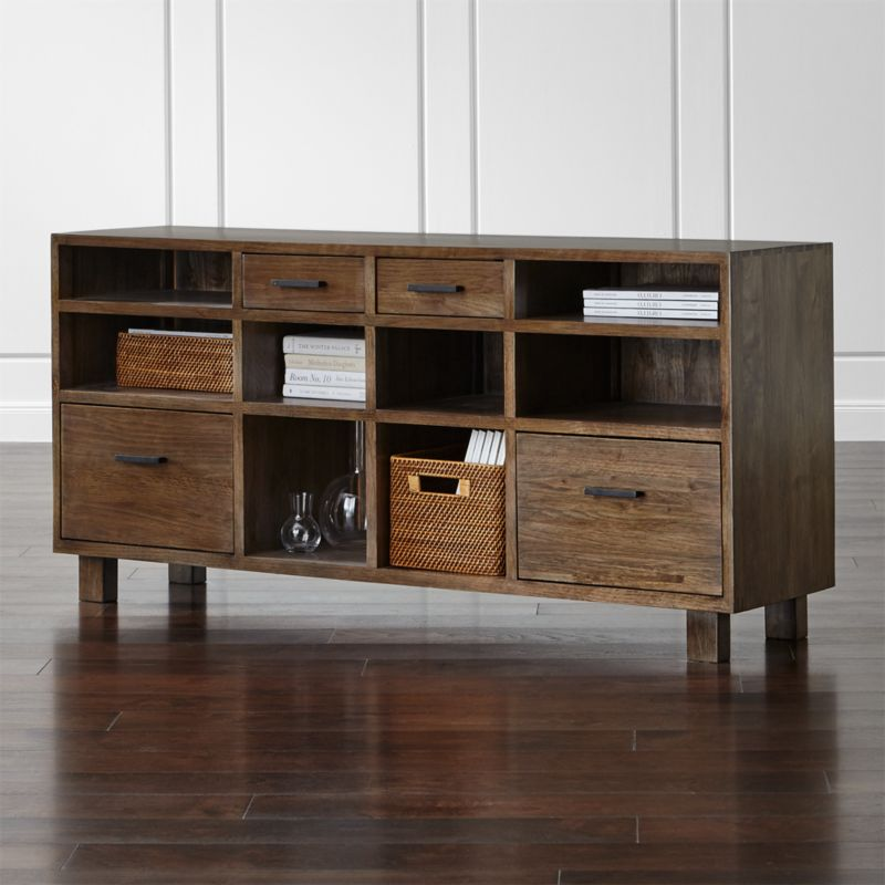 oak park ii credenza | crate and barrel