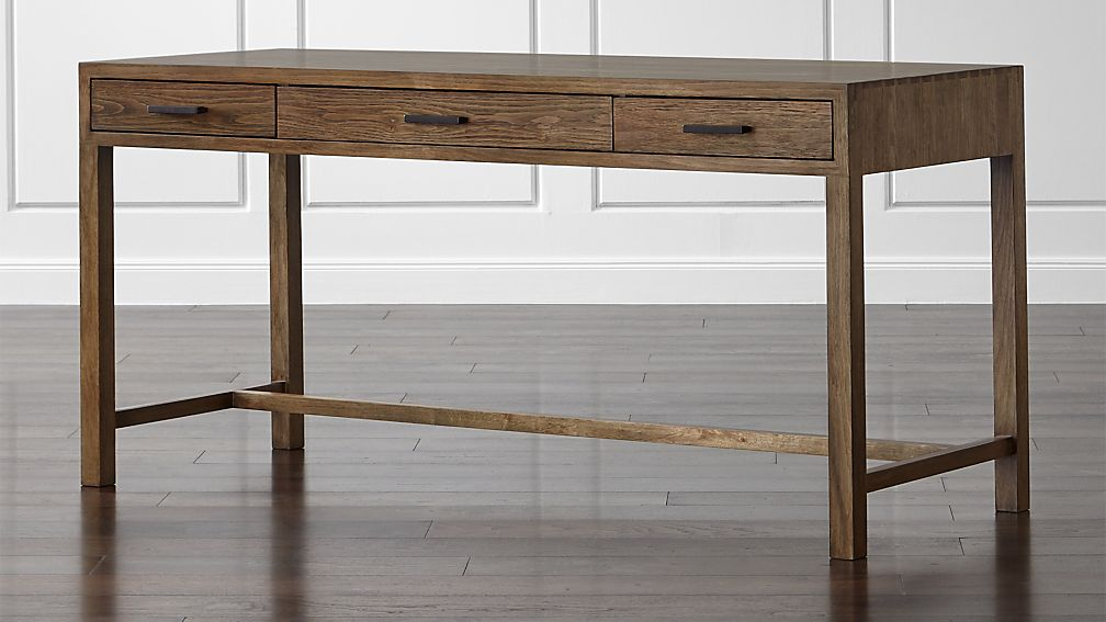 oak park ii desk | crate and barrel