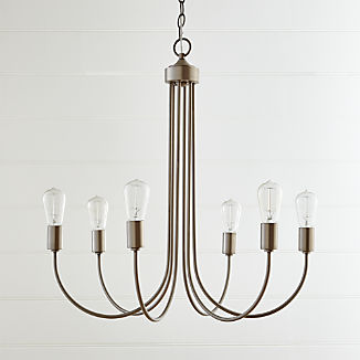 Oakton Brushed Nickel Chandelier