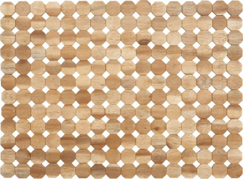Octagons of richly grained acacia wood row up in a warm brown rectangle of tabletop geometry.<br /><br /><NEWTAG/><ul><li>100% acacia wood</li><li>Clean with a damp cloth</li></ul><br />