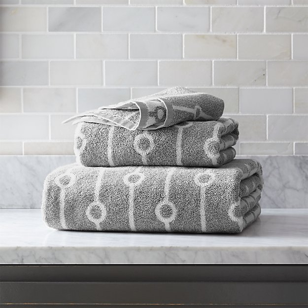 Octave Grey Bath Towels - Image 1 of 3