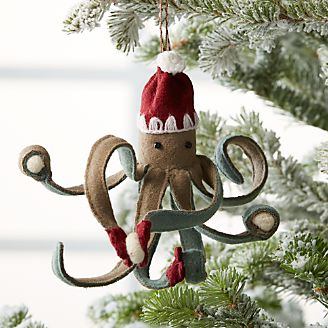 octopus ornament with snowballs - Animal Christmas Decorations