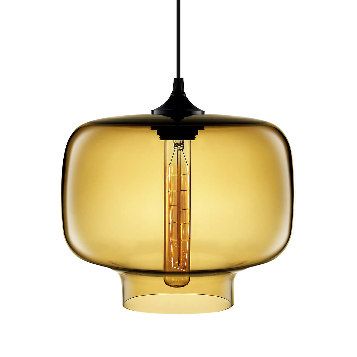Oculo Amber Hand Blown Glass Pendant Light Crate And Barrel