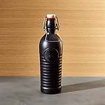 Officina 1825 Matte Black Glass Swing Top 40 oz. Bottle