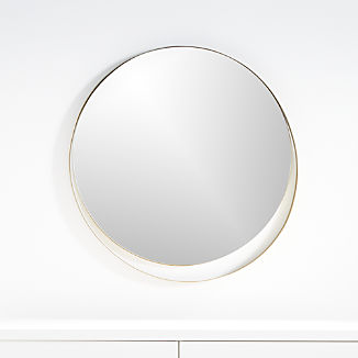 Offset Circle Wall Mirror