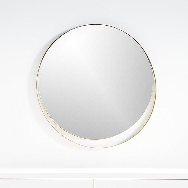 Offset Circle Wall Mirror - Image 1 of 4