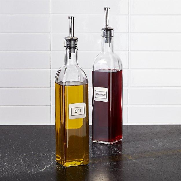 oil and vinegar bottle set crate and barrel. Black Bedroom Furniture Sets. Home Design Ideas