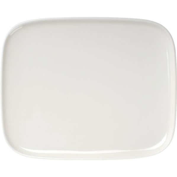 "Marimekko Oiva White 6""x5"" Plate"